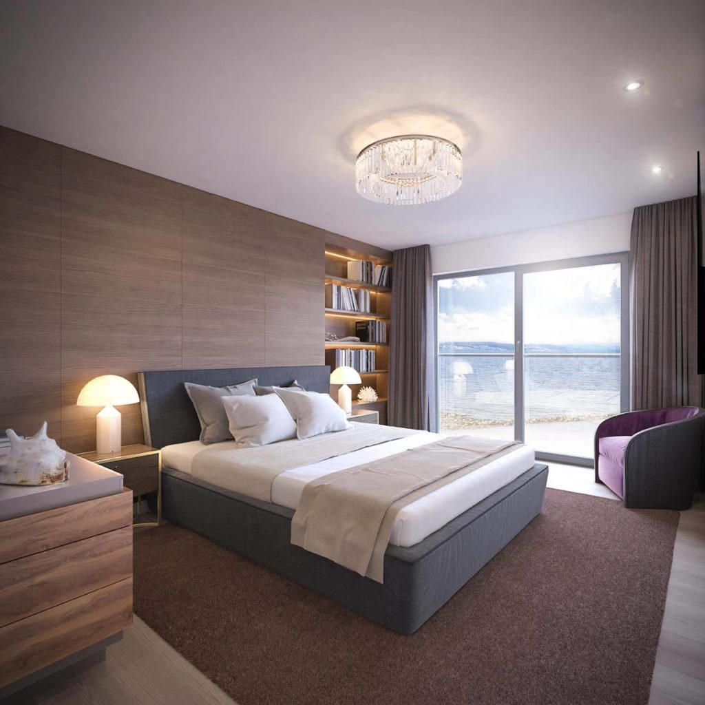 Bedroom in Broadway Development apartment by MH Stainton Homes